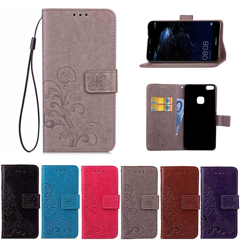 Huawei P10 Lite Flip Cüzdan üçün PU Dəri - Cib telefonu aksesuarları və hissələri - Fotoqrafiya 1