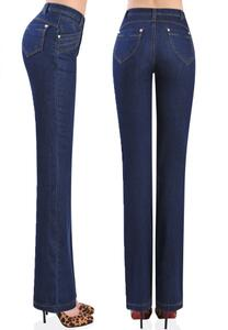 free shipping autumn Spring winter high waist bell-bottom jeans women's flare trousers female slim straight pants plus size free shipping 2017 new fashion long spring and summer bell bottom jeans boot cut women slim long trousers lacing up flare pants