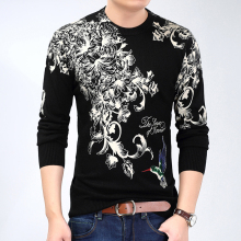2017 New Men's Sweater Knitting Slim Fit Men Pullover O-Neck Sweaters Men Pullovers Plus Size 3XL
