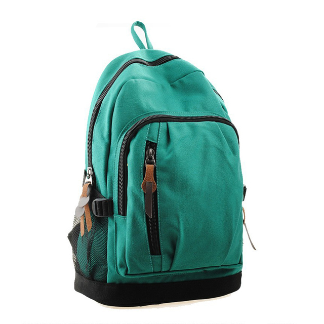 New 2017 Fashion Woman Backpack Men Casual Student School Bags For Boys Canvas Travel Solid Color Woman For Backpack