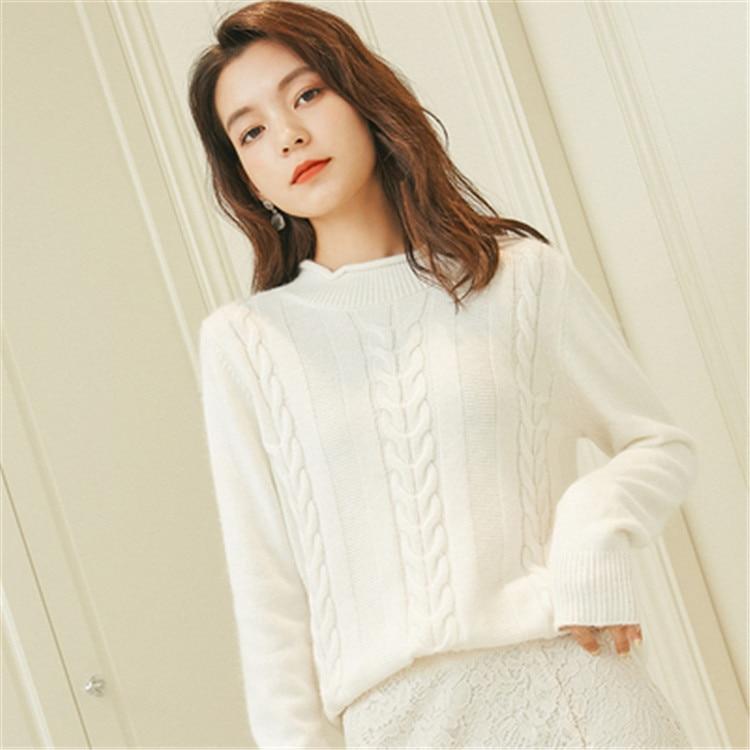 white Oneck Torsadée De Grande black Épais Mince Couleur grey Mode Femmes Cachemire Beige Taille Apricot Pur Solide Pull Tricot S Chandail 3xl ttxw8F1q