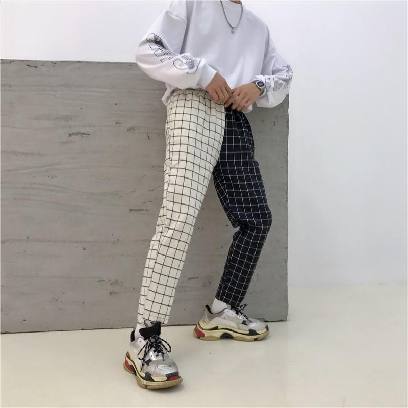 Patchwork Pants Harajuku Woman Trousers