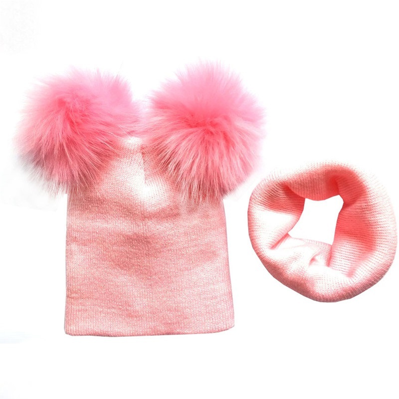 HTB17TZcazDuK1Rjy1zjq6zraFXaC - New Knitted Baby Hat Autumn Winter Baby Girls Hat Boys Cap Scarf Toddler Kids Beanies Wool Pom Pom Hat 1-4Y Accessories