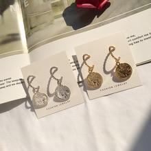 Hot Vintage Medusa Coin Portrait Drop Earrings Charm Gold Zinc Alloy Ethnic Head for Women Fashion Jewelry Pendant Metal Punk