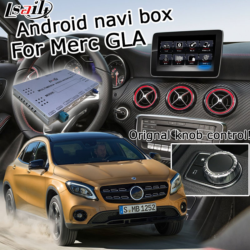Android GPS navigation box for Mercedes benz GLA NTG 5.0 video interface box mirror link waze yandex navi box with Carplay