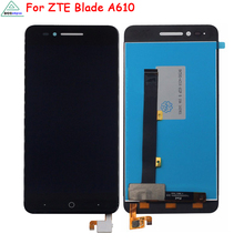 5 inch White Black For ZTE Voyage 4 Blade A610 LCD Display Touch Screen Digitizer Assembly Replacement Free Tools