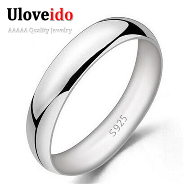 Uloveido Unisex Anillos Bijoux Rings for Women Silver Color Jewelry Male Ring Sa
