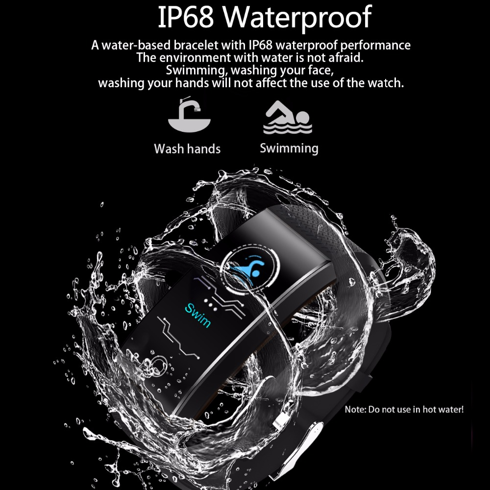BANGWEI 2019 New Men Smar watch Blood pressure heart rate monitor Tracker Student Sleep Swimming Electronic Watchs Men And Women in Digital Watches from Watches