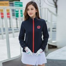 Женская куртка для гольфа легкая ветровка нейлоновая Женская Спортивная одежда для гольфа рубашка с длинным рукавом ветрозащитная