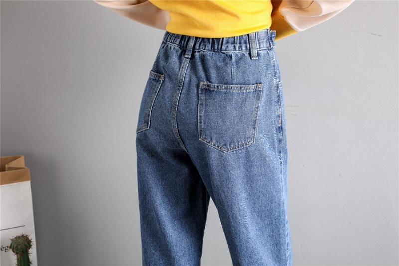 GCAROL New Women 93% Cotton Blends Pencil Denim Pants High Waisted High Street Boyfriend Style Jeans In 3 Colors Plus Size 26-32 26