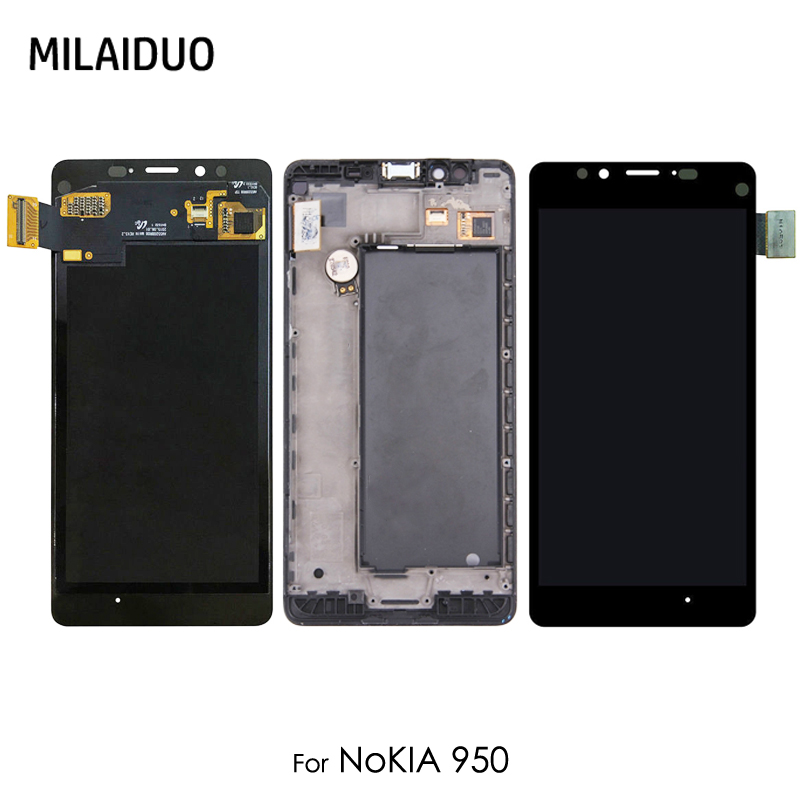 Original LCD Display For Nokia Lumia 950 RM-1104 RM-1118 Touch Screen Digitizer Assembly Replacement With Frame 5.2Original LCD Display For Nokia Lumia 950 RM-1104 RM-1118 Touch Screen Digitizer Assembly Replacement With Frame 5.2