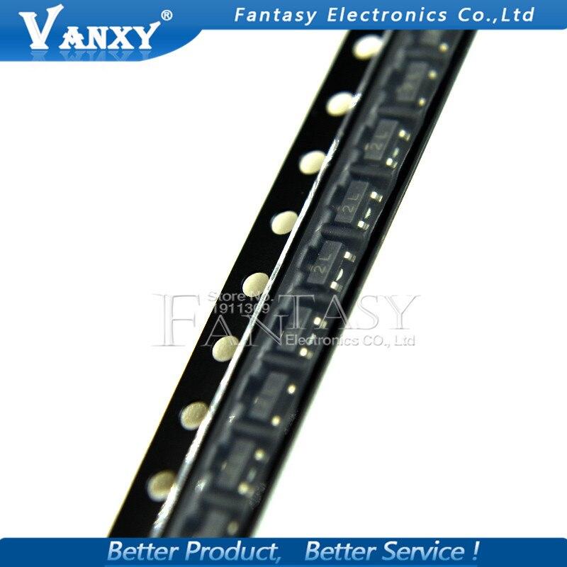 100PCS 2N5401 2L SMD MMBT5401 2L SOT-23 SOT23 Bipolar Transistors - BJT PNP Transistor New And Original