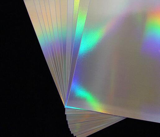 2/10/30/50 Pcs 270*210mm Holographic Rainbow Glossy Self Adhesive Sticky Vinyl Film Label Sticker For Scrapbooking Paper Craft