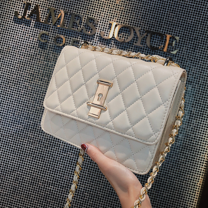 918f880a395dc ETAILL Diamond Lattice White Women Shoulder Bags Female Party Quilted Chain Crossbody  Bag Plaid Luxury Brand Designer Handbag-in Shoulder Bags from Luggage ...
