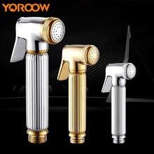 Golden Bathroom Bidet Handheld Shower Head Baby Gun Pressure Washer Home  Improvement Wall Mounted Chrome Finish