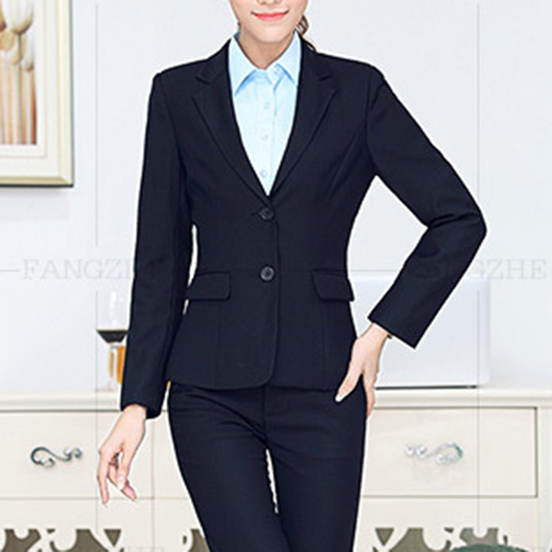 Autumn and winter new men and women blazers business wear suits interview hotel front desk OL office clothing 9918