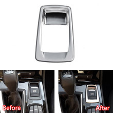 YAQUICKA Car font b Interior b font Electronic Handbrake Button Switch Frame Trim Cover For BMW