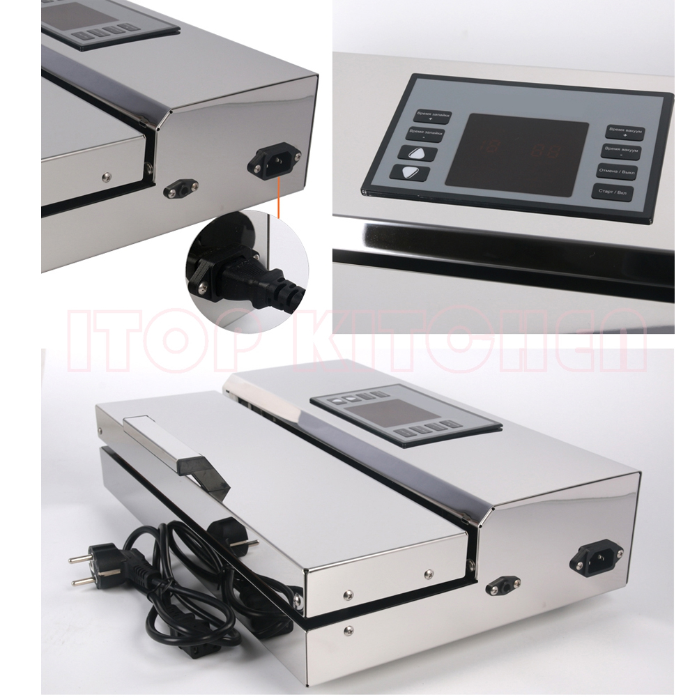 Image 5 - ITOP Home use Food Vacuum Sealer Packing Machine 30cm Length Semi automatic Electric Vacuum Sealers Food Processors-in Vacuum Food Sealers from Home Appliances