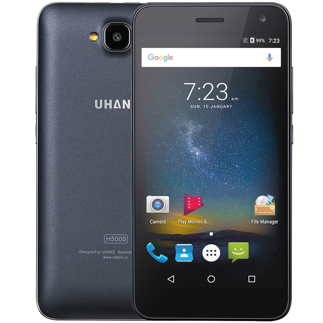Original UHANS H5000 Android 6.0 5.0 inch 4G Smartphone MTK6737 1.3GHz Quad Core 3GB RAM 32GB ROM Dual Cameras 4500mAh Battery