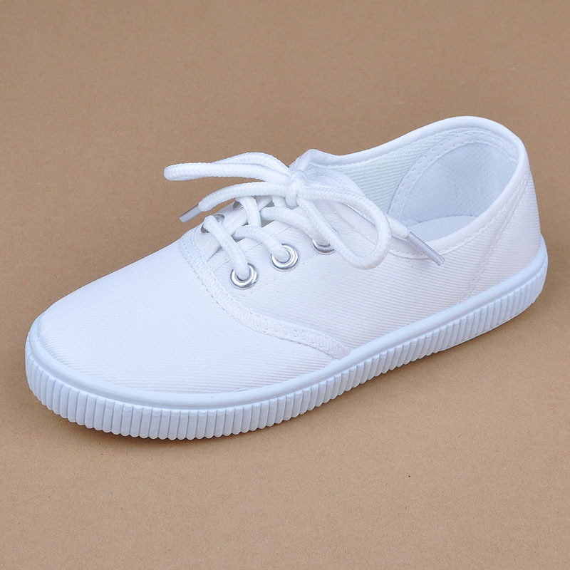 f4362324f4855 2015 Fashion Toddler Shoes Kids White Canvas Shoes lace Up Shoes Children  School Shoes 002-in Sneakers from Mother   Kids on Aliexpress.com