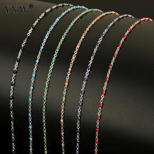 10 m/carrete Cadena de Metal para la fabricación de joyas rollo de cadena de acero inoxidable DIY cadena collar pulseras para colgante hombres mujeres joyería