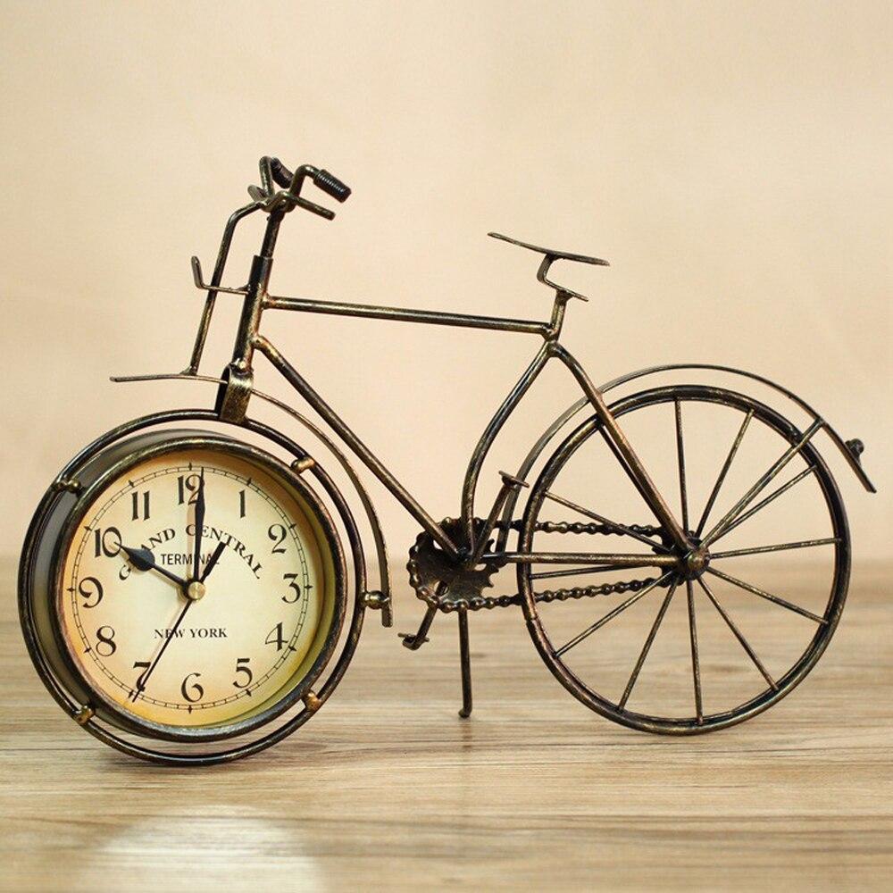 Настольные часы для велосипеда немой интерьер для дома часы для дома старинные настольные часы украшение дома