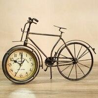 Metal bicycle desktop clock mute home decoration vintage table clock horloge frozen reloj