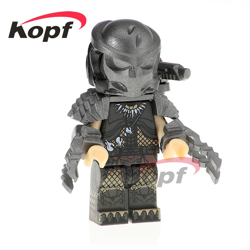 Single Sale Predator Super Heroes Hatsune Miku Skeleton Skull Alien King Kong Model Building Blocks Children Gift Toys PG1127 building blocks super heroes back to the future doc brown and marty mcfly with skateboard wolverine toys for children gift kf197