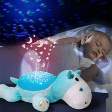 WINCO Cute Design Led Night Light Stars Projector Baby Toys For Children Sleep With Colorful Luminous Music Animals Lamp