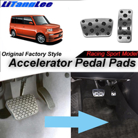 LitangLee Car Accelerator Pedal Pad Cover Foot Throttle Pedal Cover Sport Racing Model For TOYOTA bB xB NCP3 2000~2005 AT LHD