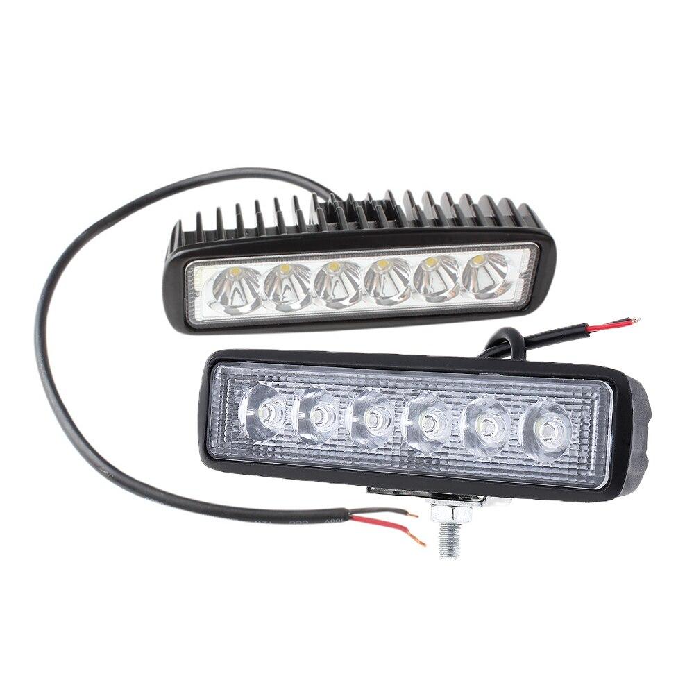 פורד ניו 18W 12V LED עבודה אור הזרקורים רצועת המבול אור כונן ערפל מחוץ לכביש LED עבודה קלה עבור פורד טויוטה SUV 4WD הוביל אור (1)