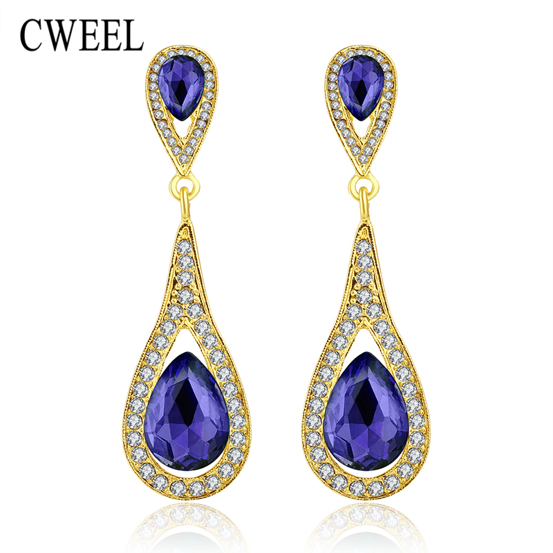 CWEEL Stud Earrings Gold Plated Women Wedding Imitated Crystal For Teen  Girls Bridal Party Holiday Fashion. Compare Prices on Teen Fashion Accessories  Online Shopping Buy