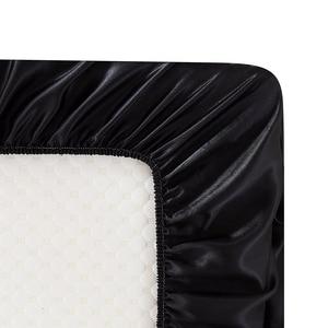Image 5 - Lujosa funda de almohada de estilo americano, juegos de cama de seda satinada 3/4 uds, suave cama de tamaño doble reina rey