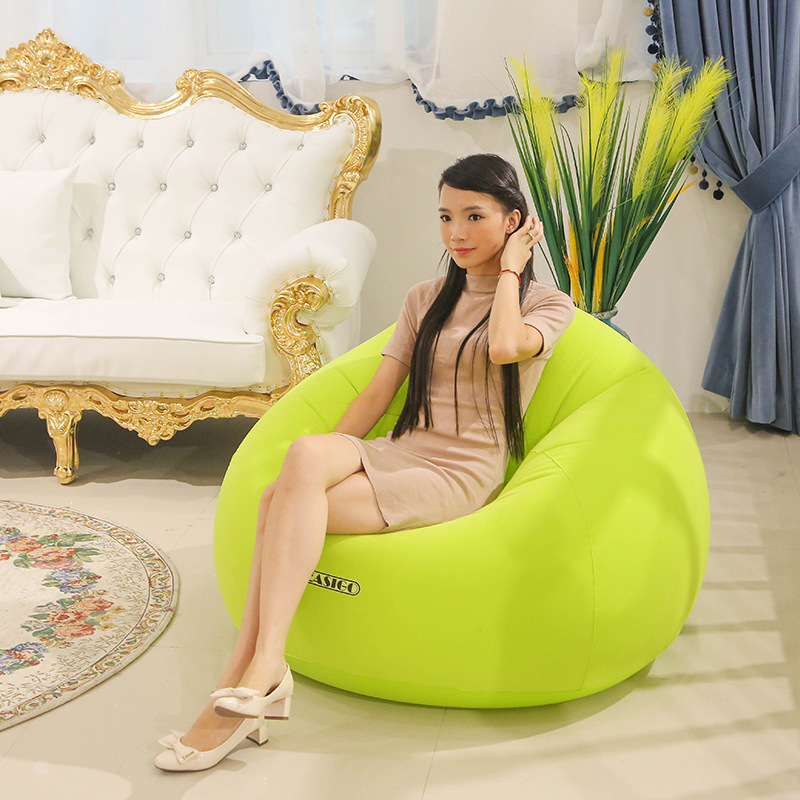 Inflatable Air Sofa for Baby Adults Flocking PVC Lazy Sofa in Living Room Office Removable Outdoor Bean Bag Pouf for CampingInflatable Air Sofa for Baby Adults Flocking PVC Lazy Sofa in Living Room Office Removable Outdoor Bean Bag Pouf for Camping