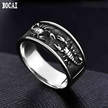 925 silver king scorpion male han edition XueShengChao domineering personality retro mens ring joker lettering