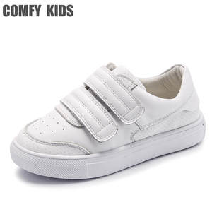 Shoes Sneakers Children's-Shoes Comfy Kids Genuine-Leather Girls for Flat with Boys Size-21-36