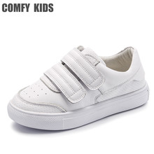 Buy Comfy kids Genuine Leather Sneakers shoes for children's shoes flat with girls boys sneakers size 21-36 High quality sneakers directly from merchant!