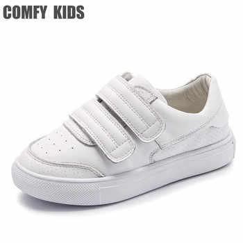 Comfy kinder Echtem Leder Turnschuhe schuhe für kinder schuhe flache mit mädchen jungen turnschuhe größe 21-36 Hohe qualität turnschuhe