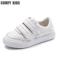 Confortável crianças tênis de couro genuíno sapatos para crianças sapatos planos com meninas meninos tênis tamanho 21 36 de alta qualidade