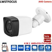 2-мегапиксельная sony cctv водонепроницаемая камера открытый безопасности cmos 1080 P пуля 3.6 мм умолчанию объектив пластиковые инфракрасного ночного видения ahd камера