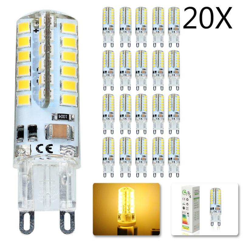 20x LED Bulb SMD 2835 G9 7W 48 leds Corn Light 220V 360 Degree Replace Halogen Lamp 48LED AC 200-240V