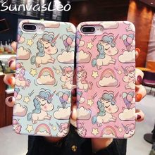 For iPhone X XS XR XS Max For iPhone 6 6s 7 8 Plus New 3D Cartoon Pretty Unicorn Soft IMD Case Mobile Phone Back Cover Shell imd gel tpu skin for iphone 6s plus 6 plus pretty flowers and butterflies