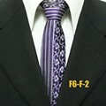 Lingyao 6cm NEW Designer Skinny Tie Mens Jacquard Woven Necktie Half Vertical Stripes with Paisley Ties
