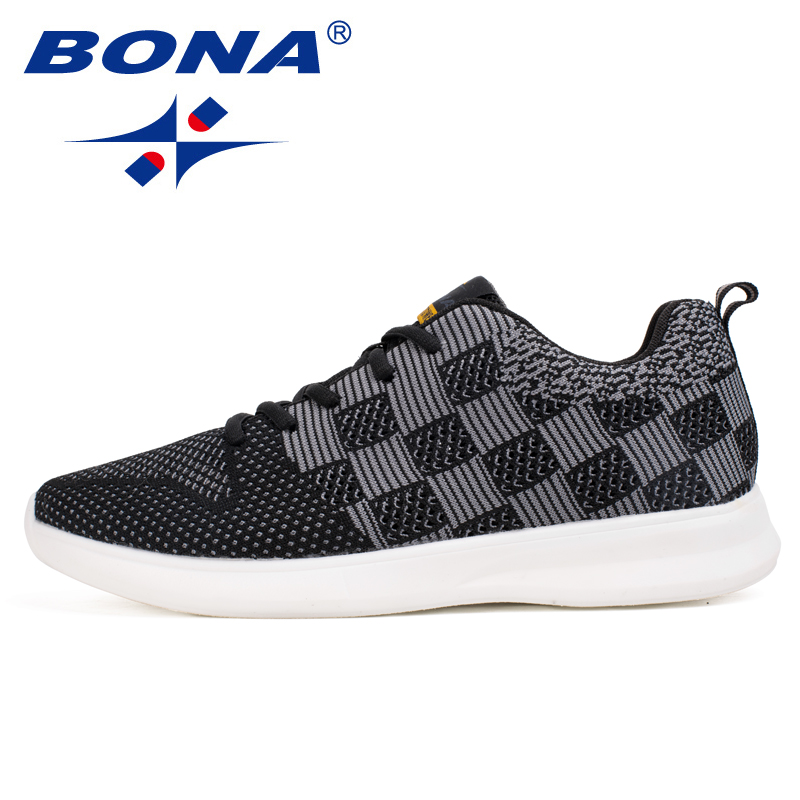 BONA New Classics Style Men Running Shoes Lace Up Men Sport Shoes Outdoor Jogging Sneakers Comfortable Light Fast Free Shipping peak sport men outdoor bas basketball shoes medium cut breathable comfortable revolve tech sneakers athletic training boots