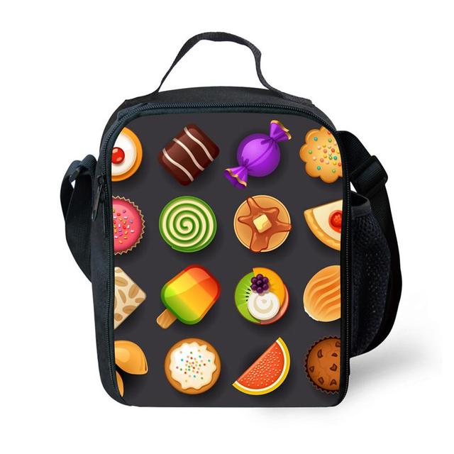 Fashion fruit salad  Fruit Print Portable Picnic Bag Kids Insulation Lunch Bag Thermal Insulation Lunch Box Girls Small Meal Pac