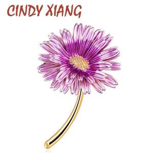 Fashion Brooch Pins Sunflower-Accessories Choose Women Enamel Unisex CINDY XIANG 3-Colors