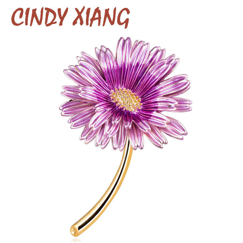 CINDY XIANG Enamel Daisy Pins Summer Fashion Brooch Women and Men Unisex Brooches Sunflower Accessories 3 Colors Choose New 2019