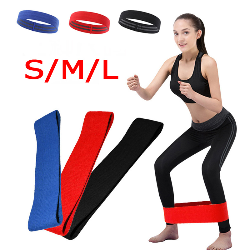 Non Slip Hip Circle Loop Resistance Bands Workout Exercise