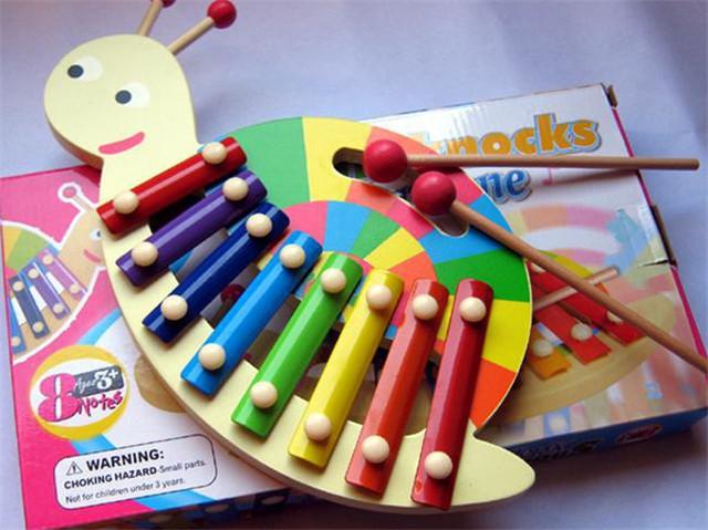 Nuevo w ood Caracoles 8 Escalas xilófono de juguete juguete Del Bebé Envío gratuito