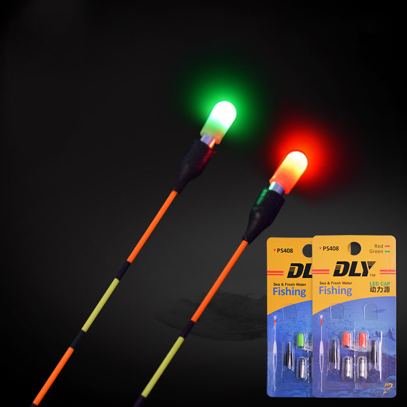 2PCS Light Stick With CR311 Battery Electronic Light Sticks Red/Green Luminous Fishing Float Accessory Fishing Tackle FU005